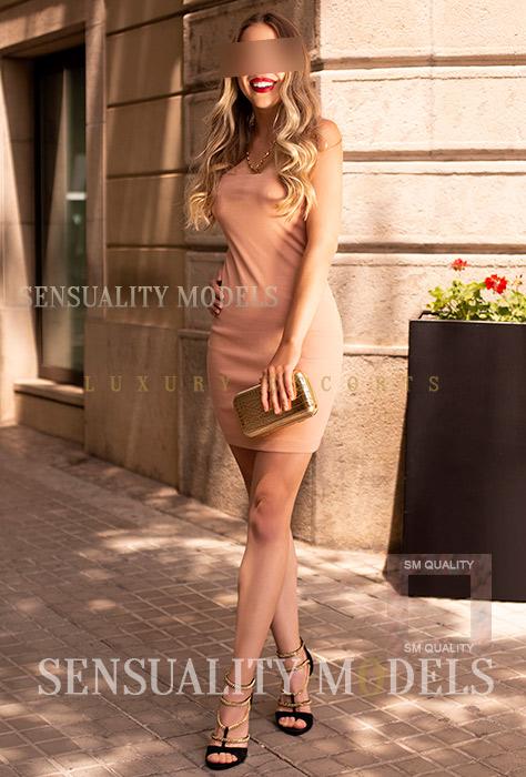 elegante chica casual